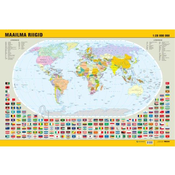 """SULEMEES Lauamatt """"Maailma riigid"""" 40*60cm, eestikeelne"""