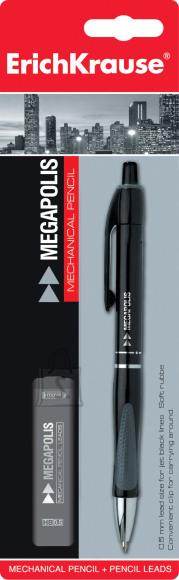 ErichKrause Mehaaniline pliiats MEGAPOLIS 0.5mm + südamikud