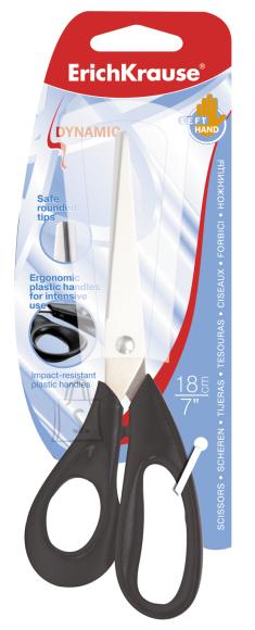 ErichKrause Käärid DYNAMIC 18cm, assortii (must,sinine,punane)