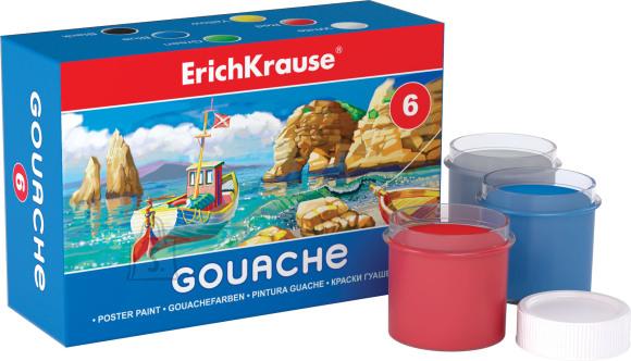 ErichKrause Guaššvärvid  6 värvi, kartongkarbis