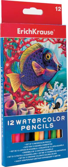 ErichKrause Akvarellpliiats 12 värvi