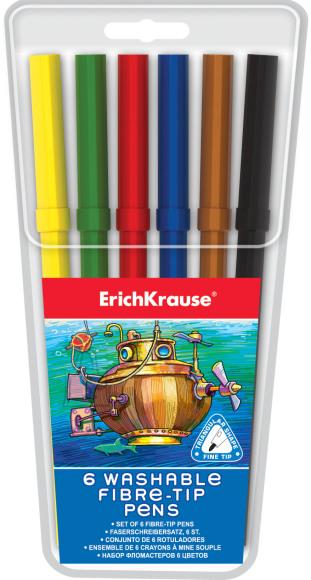 ErichKrause Viltpliiatsid kolmnurksed, 6 värvi