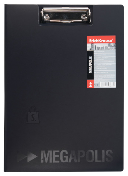ErichKrause Kirjutusalus kaanega, MEGAPOLIS A4 plastik, must