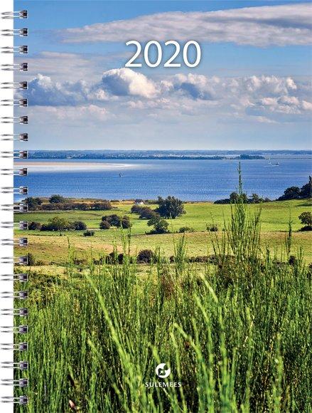 SULEMEES Kalender nädal A5 2020a, horisontaaljaotus, spiraalköites SISU