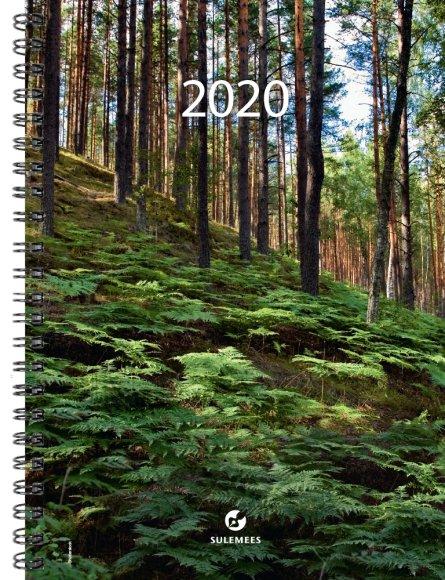 SULEMEES Kalender nädal A5 2020a, vertikaaljaotus, spiraalköites SISU