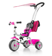 Milly Mally 3-rattaline lapsekäru Boby Deluxe - roosa