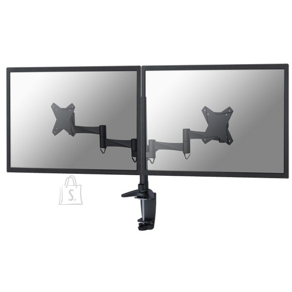 "NewStar LCD/TFT desk mount, 10-24"", clamp & grommet, 2 screens, black"