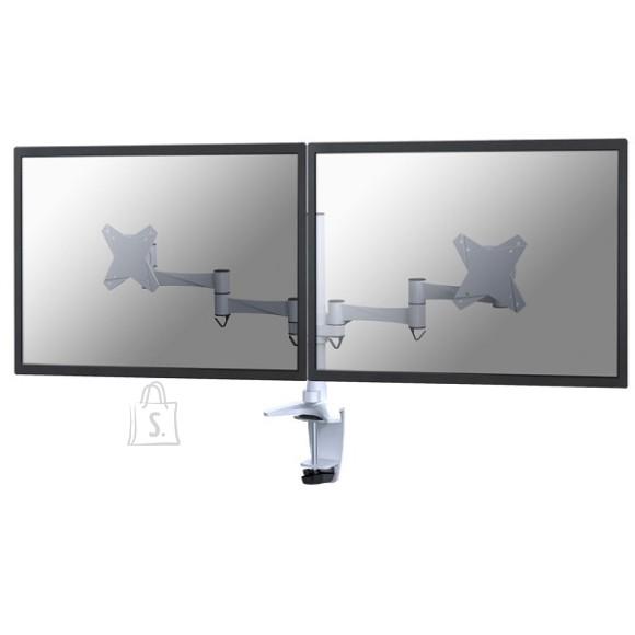 """NewStar LCD/TFT desk mount, 10-24"""", clamp & grommet, 2 screens, white"""