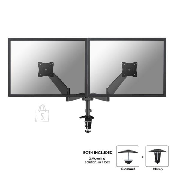 "NewStar Flatscreen Dual Desk Mount (clamp) 2 x 10-27"" col.:Black"