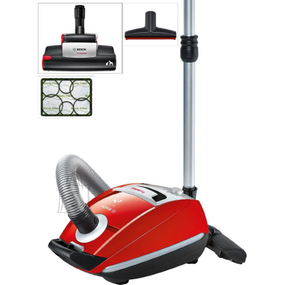 Bosch BOSCH Vacuum cleaner BSGL5333 ProAnimal, Bagged, Red color, 850 W, 74 dB, AirTurbo System