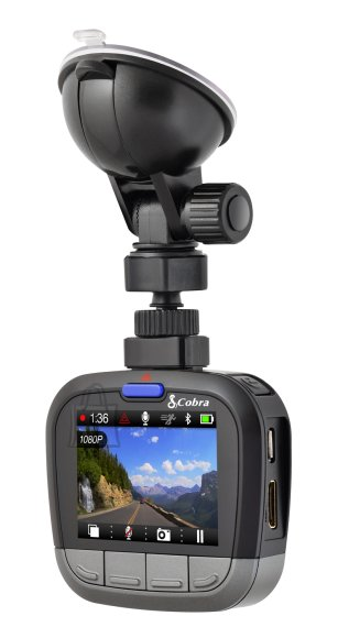 "Cobra Cobra CDR 855 BT Drive HD autokaamera 2.0"" ekraaniga, Bluetooth, 8GB MicroSD komplektis"