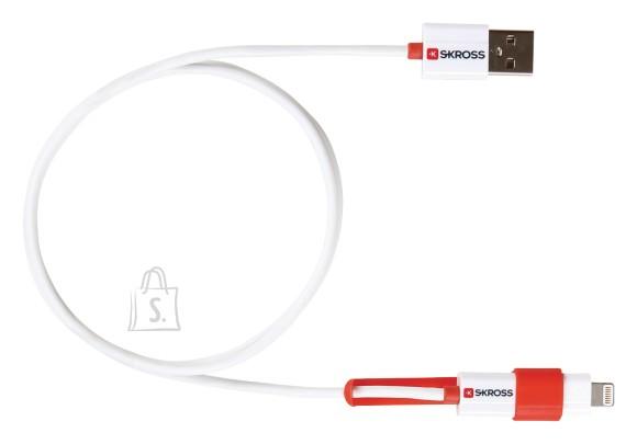 Skross Skross SKR2700200 2>1 laadimis ja sünkimis kaabel Micro USB & Lightning pistikuga