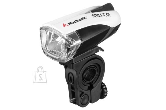 Mactronic STREET.01 laetav jalgratta esimene lamp, 140lm, 2 akut 1200mAh, USB, valgussensor