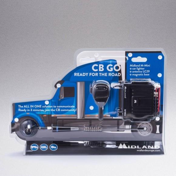 Midland Midland CB-GO - M-Mini autoraadiosaatja ja LC29 magnetantenni komplekt