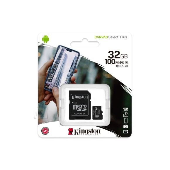 Kingston 32GB MicroSDHC mälukaart Kingston Canvas Select Plus