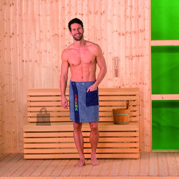 Tekstiilikompanii Saunaseelik meeste sinine 50x136 cm