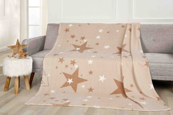 Tekstiilikompanii Pleed 150x200 cm, STARS beež