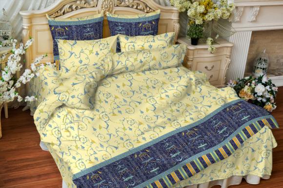 Tekstiilikompanii Voodipesukomplekt 150x210 / 50x60 cm, LOUVRE BLUE