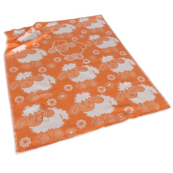 Tekstiilikompanii Puuvillane baikatekk 100x118 cm, LAMMAS oranž