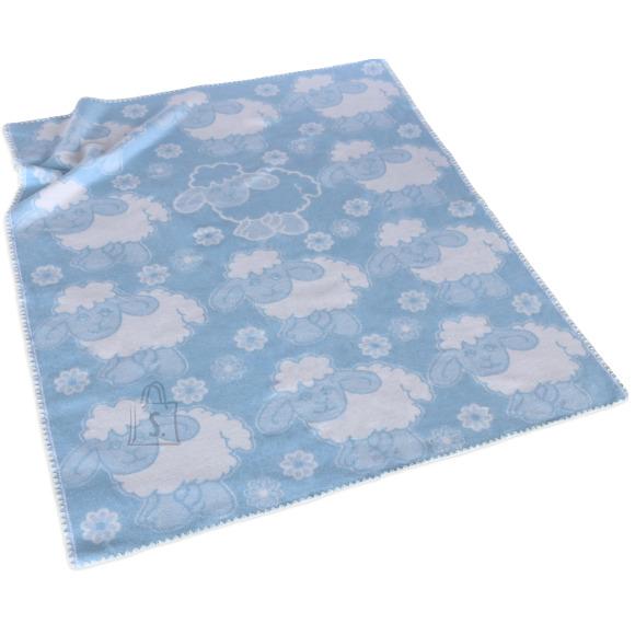 Tekstiilikompanii Puuvillane baikatekk 100x118 cm, LAMMAS helesinine