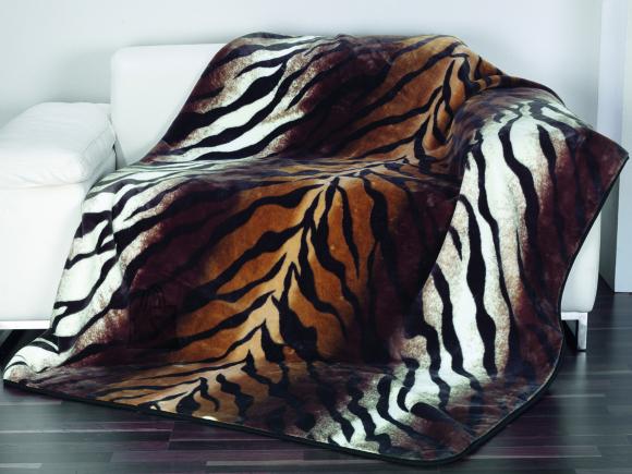 Tekstiilikompanii Tekk - pleed 150x200 cm, Cashmere TIIGER pruun