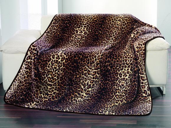 Tekstiilikompanii Tekk - pleed 150x200 cm, Cashmere LEOPARD pruun