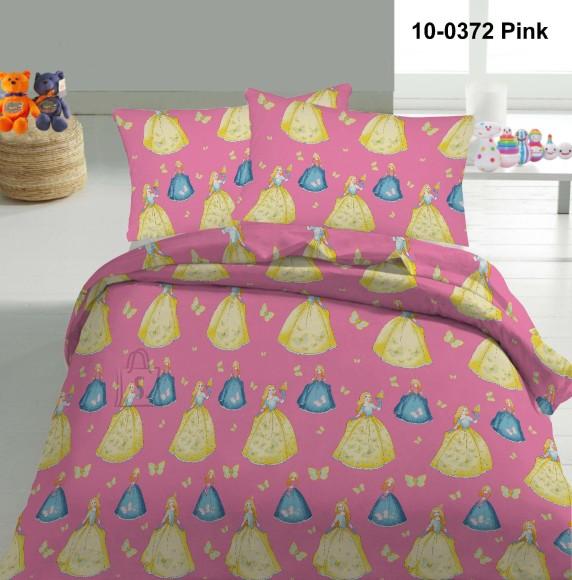 Tekstiilikompanii Voodipesukomplekt PRINTSESS 150x210 cm / 50x60 cm, roosa