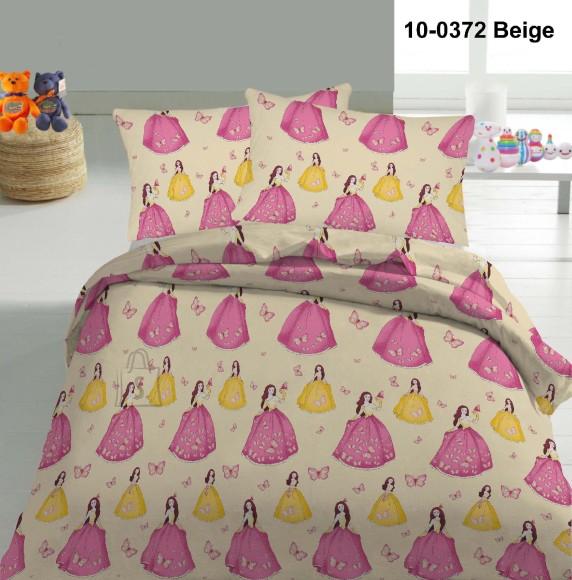 Tekstiilikompanii Voodipesukomplekt PRINTSESS 150x210 cm / 50x60 cm, beež