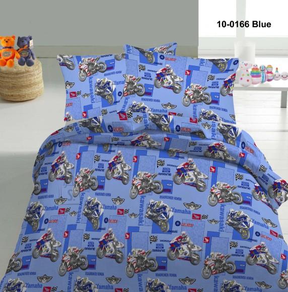 Tekstiilikompanii Voodipesukomplekt MOOTORRATTAD 150x210 cm / 50x60 cm, sinine