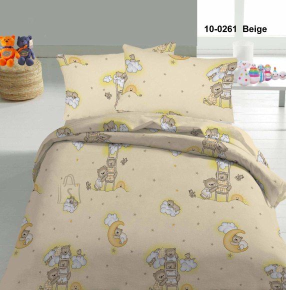 Tekstiilikompanii Voodipesukomplekt 110x140 cm / 50x60 cm, karud