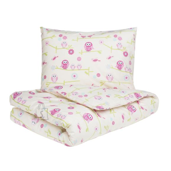 Tekstiilikompanii Voodilina lastele ÖÖKULLID 100x150 cm, roosa