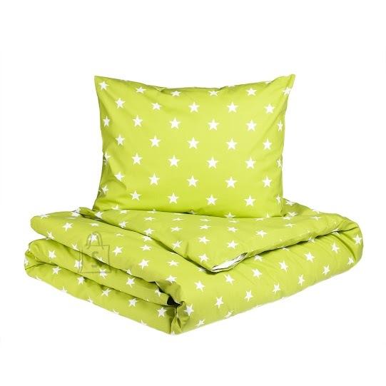Tekstiilikompanii Voodipesukomplekt STARS 150x210 cm / 50x60 cm, roheline