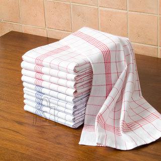 Tekstiilikompanii Köögirätik puuvillane 10 tk, 50x70 cm, ruuduline punane