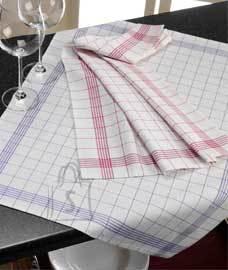 Tekstiilikompanii Köögirätik linane 10 tk, 50x70 cm, ruuduline sinine