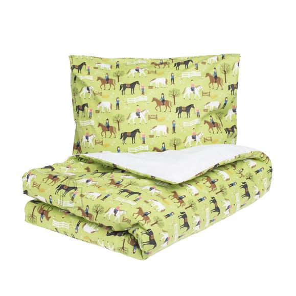 Tekstiilikompanii Laste voodipesukomplekt 110x140 / 50x60 cm, HOBUSED