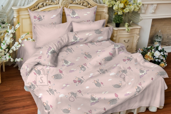 Tekstiilikompanii Voodipesukomplekt lastele LAMMAS, 110x140 / 50x60 cm, roosa