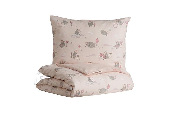 Tekstiilikompanii Voodipesukomplekt lastele LAMMAS, 102x120 / 40x60 cm, roosa