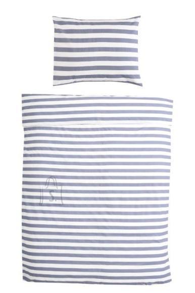 Tekstiilikompanii Voodipesukomplekt 150x210 / 50x60 cm, STRIPE denim sinine