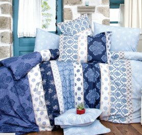 Tekstiilikompanii Voodipesukomplekt puuvillane 220x210 / 2x 50x60 cm, NOVA sinine