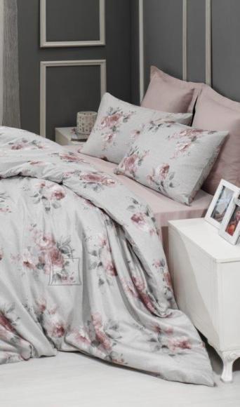 Tekstiilikompanii Voodipesukomplekt puuvill-satään 150x210, 50x60 cm / GISELLE roosa-hall
