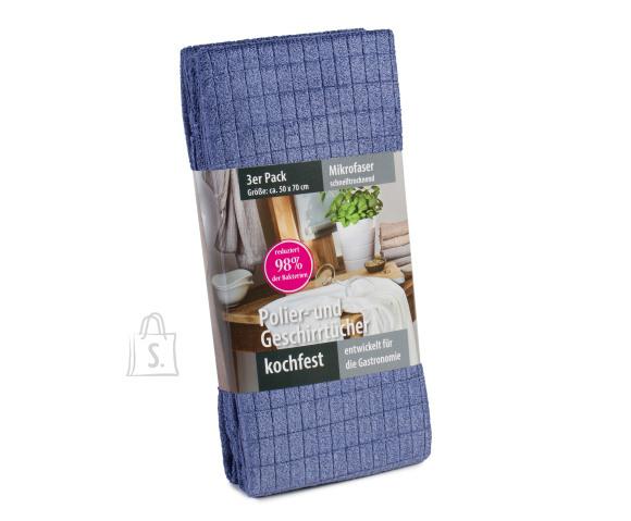 Tekstiilikompanii Köögirätik mikroikiud 50x70 cm, 3 tk pakis, sinine