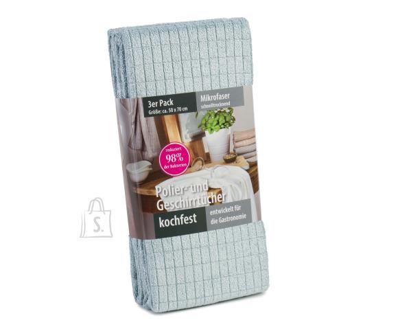 Tekstiilikompanii Köögirätik mikrokiud 50x70 cm, 3 tk pakis, helesinine