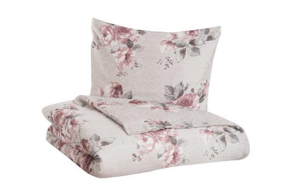 Tekstiilikompanii Voodipesukomplekt puuvill-satään 220x210, 2x 50x60 cm / GISELLE roosa-hall