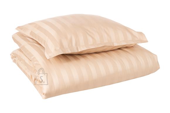 Tekstiilikompanii Voodipesukomplekt triip-satään 220x210, 2x 50x60 cm / HOTEL CLASSIC beež