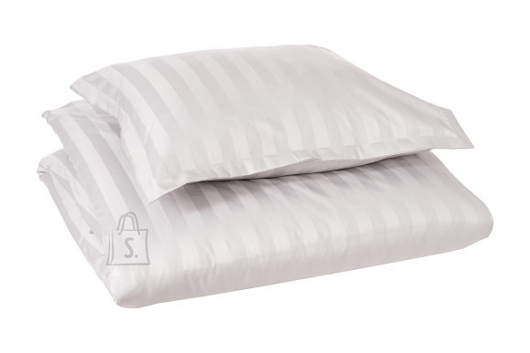 Tekstiilikompanii Voodipesukomplekt triip-satään 220x210, 2x 50x60 cm / HOTEL CLASSIC helehall