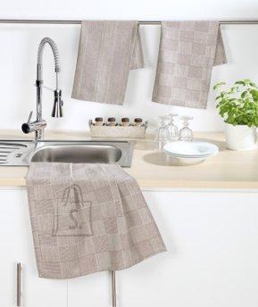 Tekstiilikompanii Köögirätik 50x70 cm, 100% puuvill, 4tk pakis, beež
