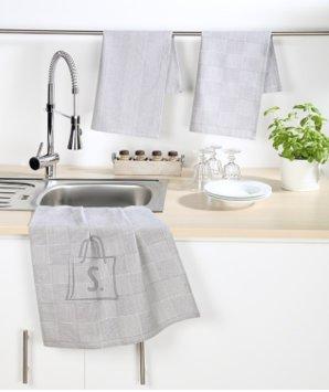 Tekstiilikompanii Köögirätik 50x70 cm, 100% puuvill, 4tk pakis, hall
