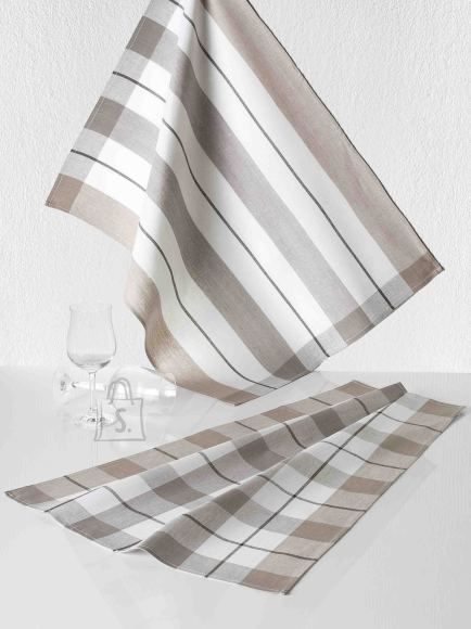 Tekstiilikompanii Köögirätik KOCHFEST 50x70 cm, 100% puuvill, 10tk pakis, pruun-hall