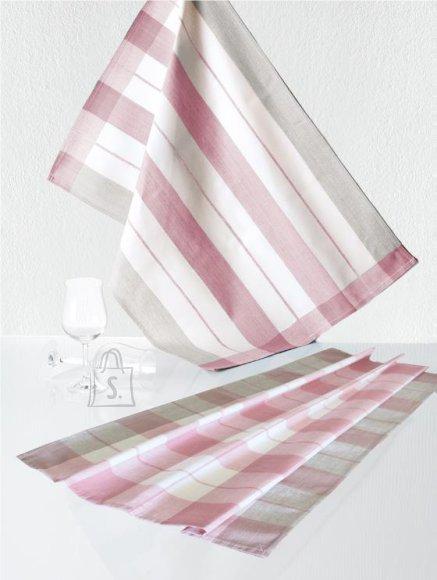 Tekstiilikompanii Köögirätik KOCHFEST 50x70 cm, 100% puuvill, 5tk pakis, roosa-hall