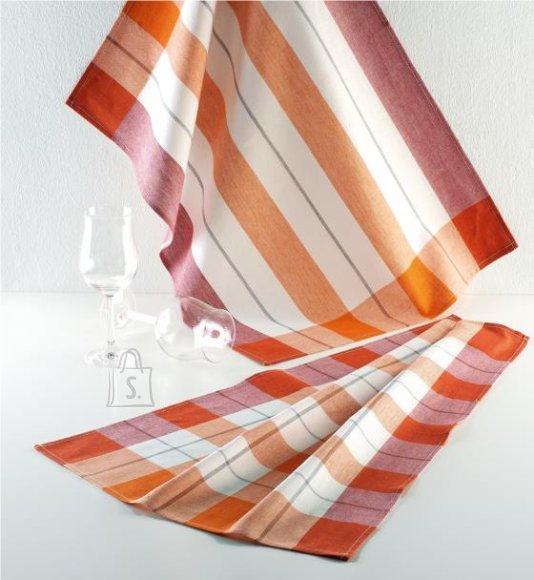 Tekstiilikompanii Köögirätik KOCHFEST 50x70 cm, 100% puuvill, 5tk pakis, punane-oranž